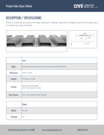 B-Deck Data Sheet Photo